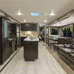 Rear Kitchen Travel Trailer Tile Table 2018 New Grand Design Imagine 2950rl Living Island ...