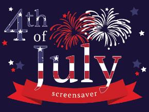 4th of july screensaver