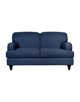 bay sofa mainstays flip sleeper chair hudson cambridge fabric loveseat with english roll arm