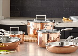kitchen pots and pans little bakers home essentials cookware thebay com copper at