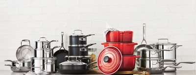 kitchen pans kohler single handle faucet repair home essentials cookware thebay com red dutch ovens cast iron pots and non stick at