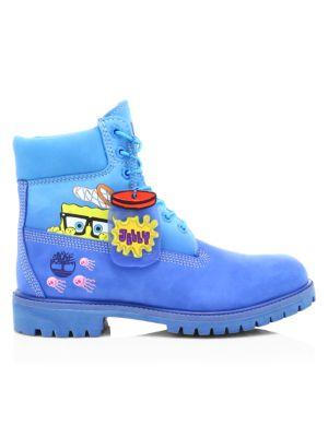 Spongebob Timberlands : spongebob, timberlands, Timberland, Company, Premium, Spongebob, Leather, Boots, SaksFifthAvenue