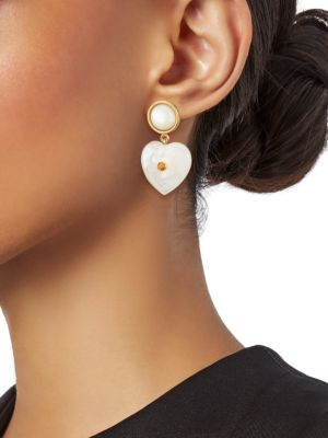 Forevermore Jewelry : forevermore, jewelry, Lizzie, Fortunato, Forevermore, Goldplated,, Mother-Of-Pearl, Tourmaline, Earrings, SaksFifthAvenue