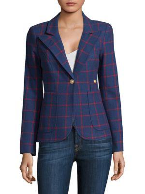 Checkered Wool Blazer, $695.0