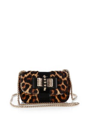 Sweet Charity Spotted Animal Print Calf Hair & Patent Leather Flap Bag