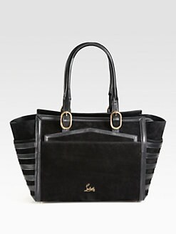 Christian Louboutin - Farida Mixed-Media Top Handle Bag