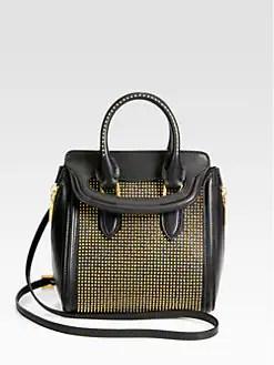 Alexander McQueen - Heroine Mini Studded Crossbody Bag