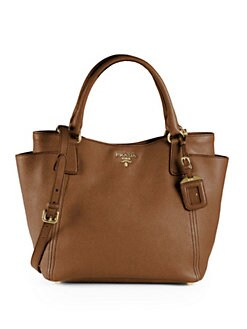 Prada - Daino Convertible Side Pocket Hobo