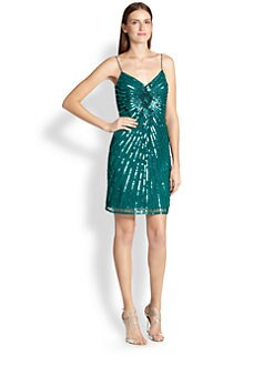 Aidan Mattox - Sequined Sheath Dress