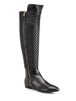 Brian Atwood - Ares Quilted Leather Knee-High Boots