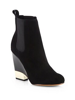 Givenchy - Suede Metal-Heel Chelsea Boots