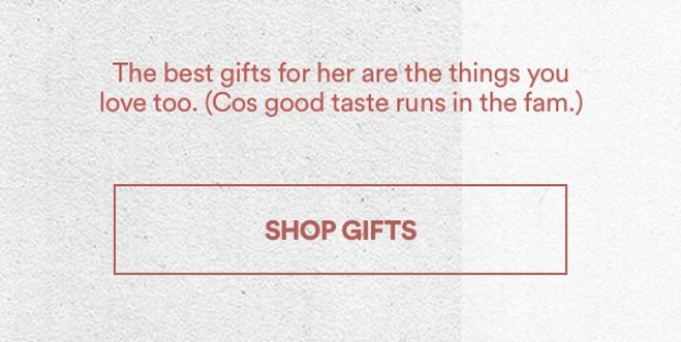 The best gifts for her are the things you love too. (Cos good taste runs in the fam.) Click to Shop Now.