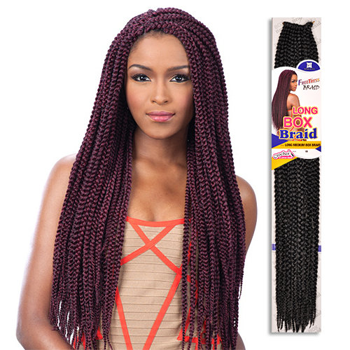 FreeTress Synthetic Hair Crochet Braids Long Medium Box
