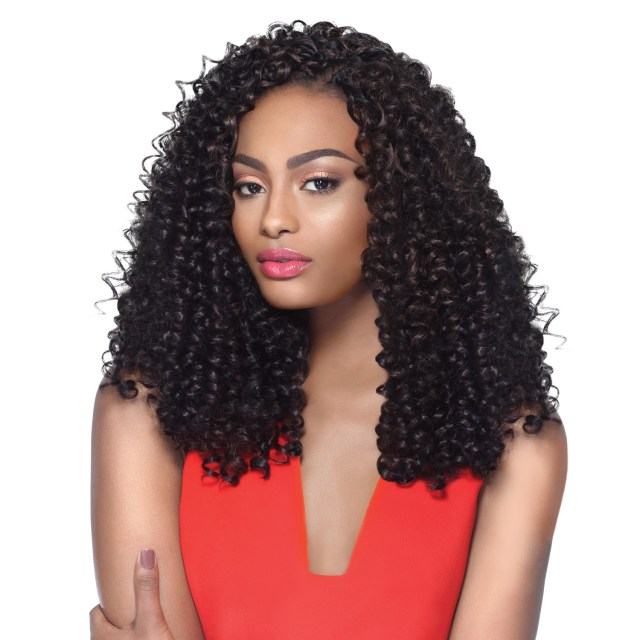 """outre synthetic hair crochet braids x-pression braid 4 in 1 loop bohemian curl 14"""""""