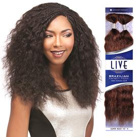 sensationnel remy human hair braids live brazilian keratin remi wet wavy super bulk samsbeauty