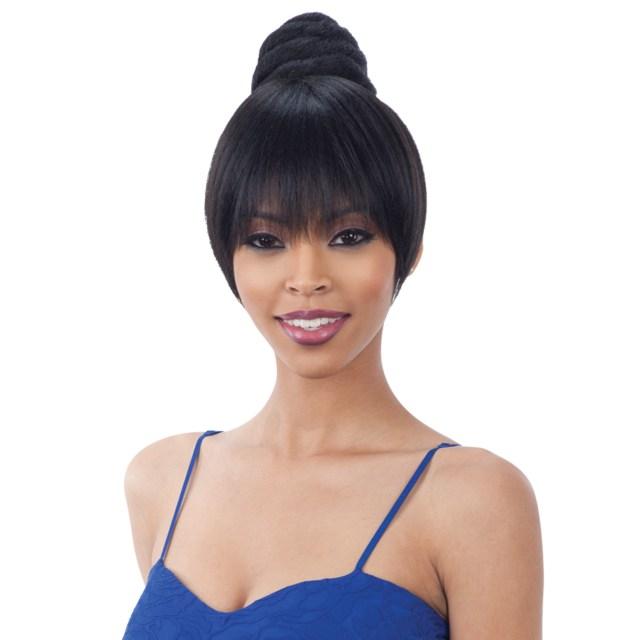 freetress equal synthetic hair bun & bang swirl bun (dome) bang 2pcs (china bang)