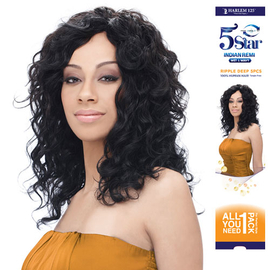 indian remi hair weave harlem125 wet wavy 5 star ripple deep 5pcs samsbeauty