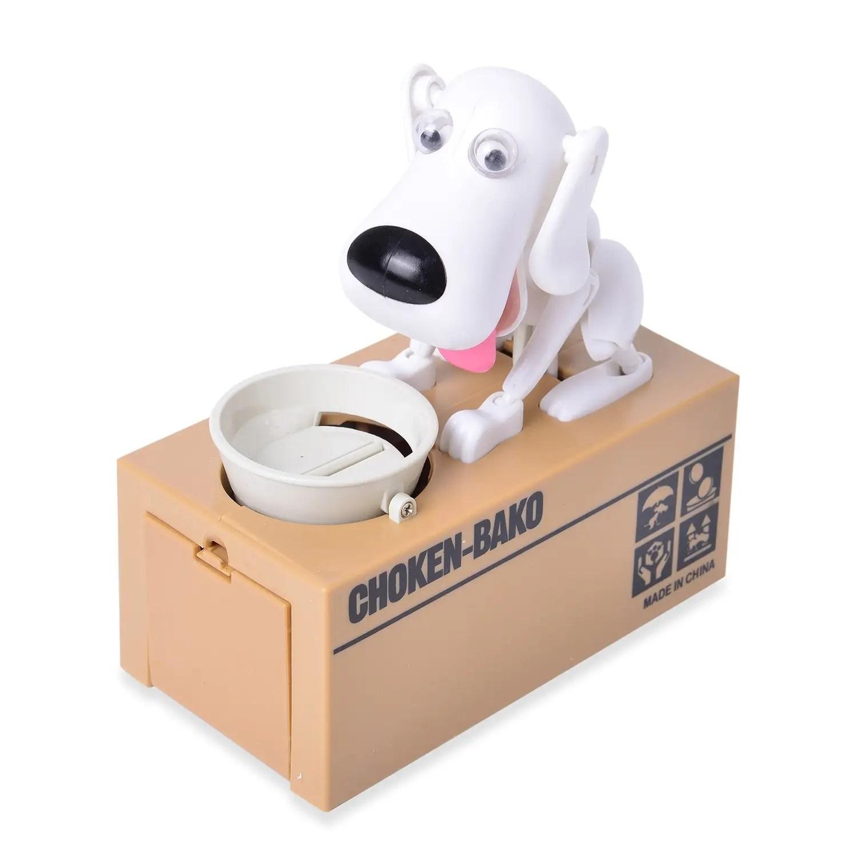 White Dog Coin Bank Money Coin Piggy Bank Money Saving For