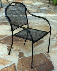 Black Iron Patio Chairs Image - pixelmari.com
