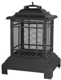 New Pagoda Patio Fireplace Free Standing Outdoor Steel ...