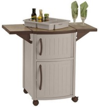 New Rolling Outdoor Serving Station Cabinet BBQ Patio ...