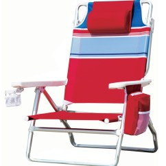 Beach Chair Pillow With Strap Walmart Folding Lawn Chairs New Red Striped Portable Outdoor Pool