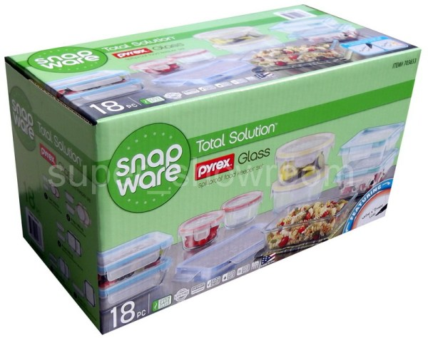 New Snapware 18 Piece Food Storage Containers Set Glass