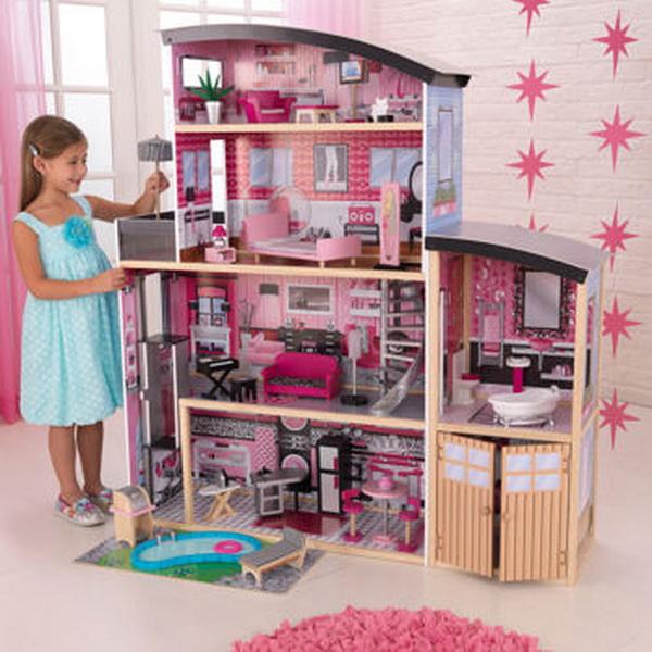 New KidKraft Sparkle Mansion 4 Story Kids Wood Doll House