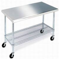New Stainless Steel Top Work Table Kitchen Prep NSF ...