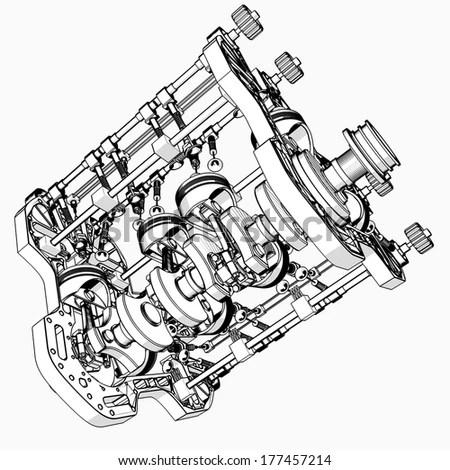 V8 Engine Background Leather Background Wiring Diagram