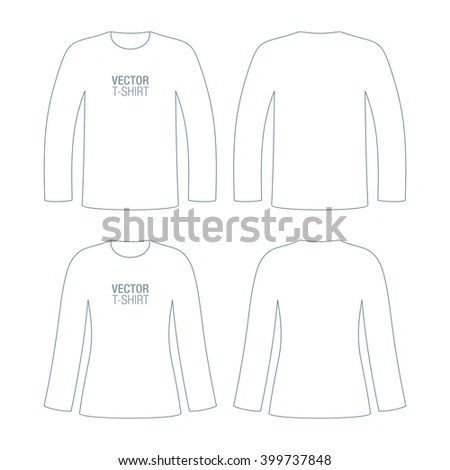 All six views men's white long sleeve t… Stock Photo