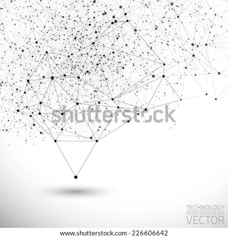 Abstract White Bright Technology Vector Background
