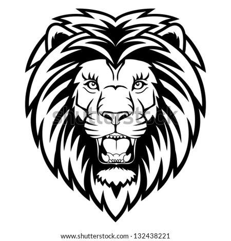 A Lion Head Logo. This Is Illustration Ideal For A Mascot