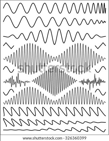 Wave Shapes Stock Vector Illustration 326360399 : Shutterstock