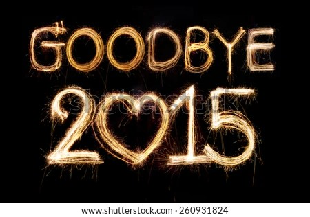 goodbye 2018 word made