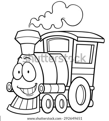 Railroad Car And Engine Clip Free, Railroad, Free Engine
