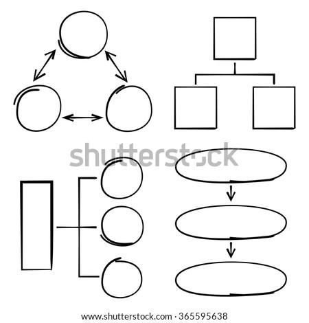 Hand drawn flow chart diagram,… Stock Photo 327701423