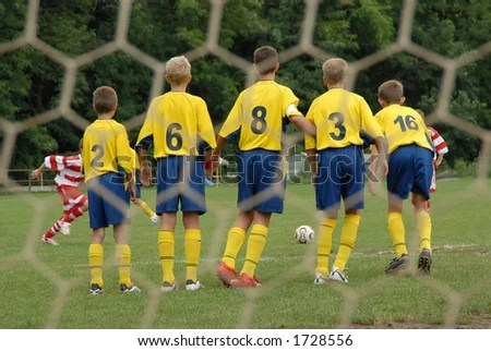 stock photo : Boys playing soccer