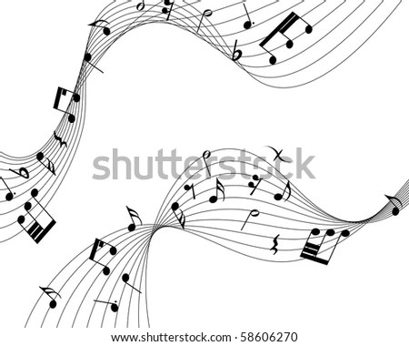 Royalty-free Music notes twisted into a spiral #34427119