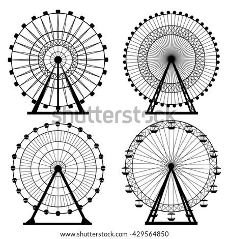 Ferris wheel silhouette, circle.… Stock Photo 429564871