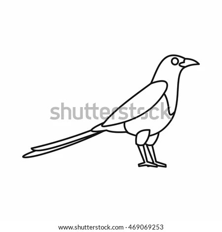 Royalty Free Stock Photos and Images: Bird magpie icon in