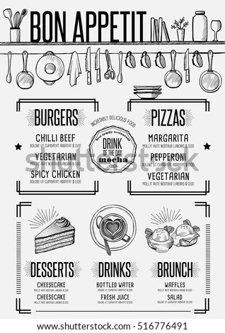 Vector Images, Illustrations and Cliparts: Placemat menu