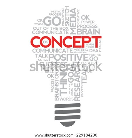 Royalty-free Words bulb word cloud, business concept