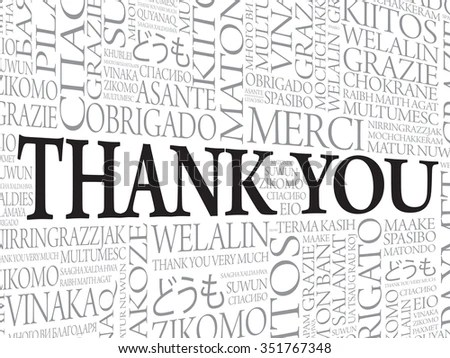 Royalty-free Thank You Word Cloud vector background
