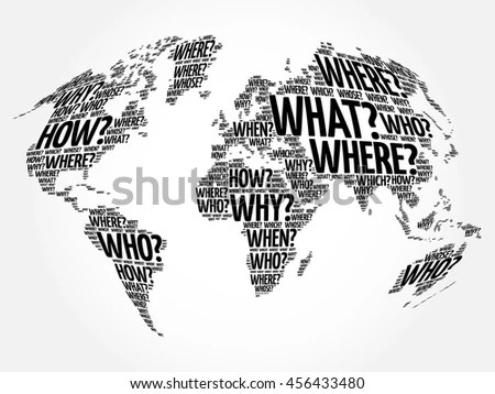 Royalty-free World Map in Typography word cloud