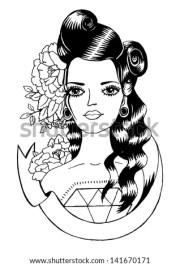 school tattoo - pin girl