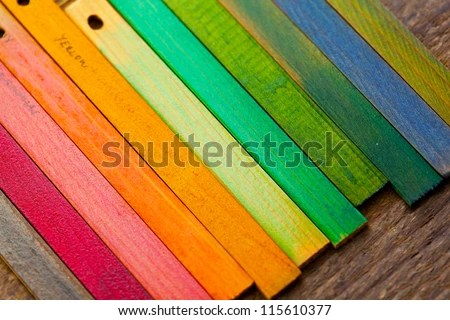 colorful wood stain