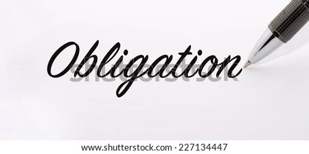 Pen Write Obligation Word On Paper Stock Photo 227134447 : Shutterstock