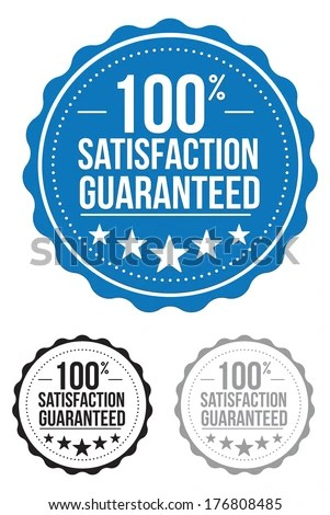 100 Satisfaction Guaranteed Vector Download Free Vector Art Free Vectors