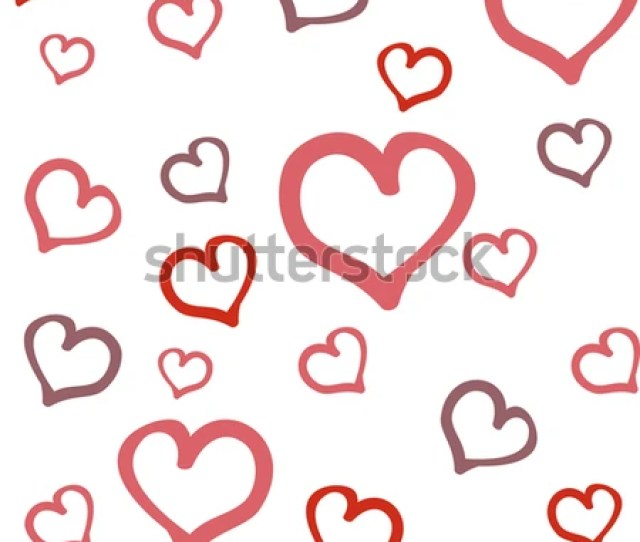 Seamless Abstract Pattern With Hearts Festive Texture Wedding Decoration In A Romantic Style On